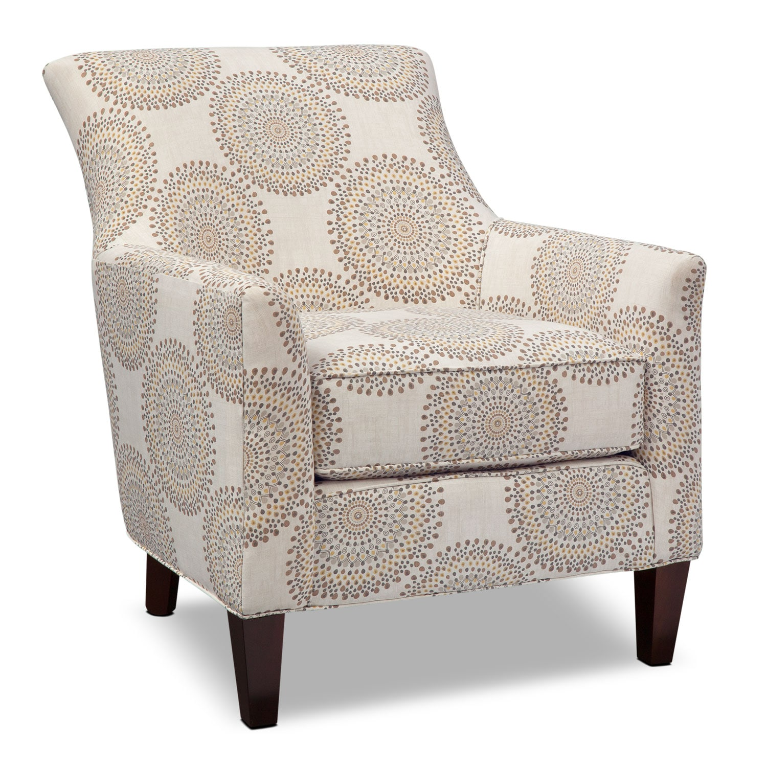 Rachel Carousel Accent Chair Sand Value City Furniture