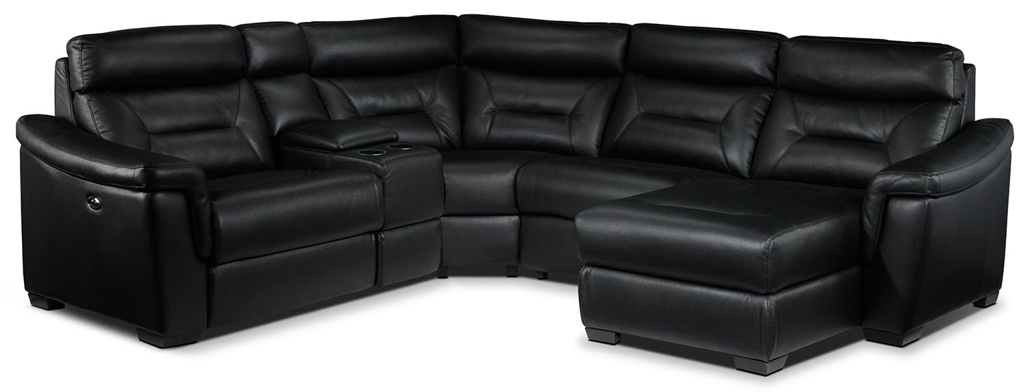 Wexler 5 Pc. Sectional - Black