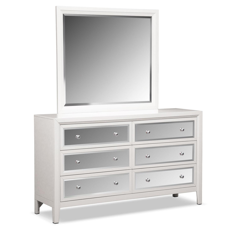Bonita Dresser And Mirror White Value City Furniture