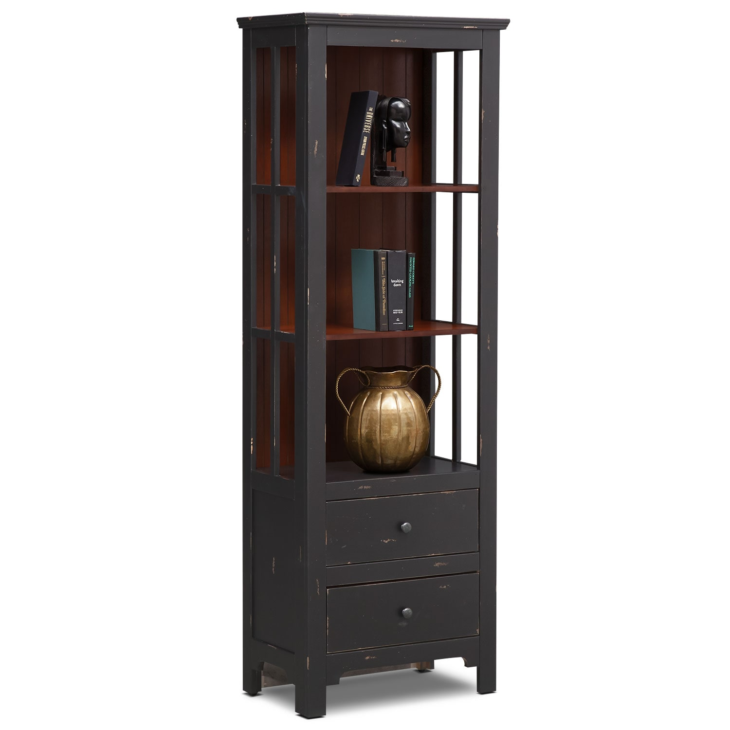 Bookcase Bedroom Furniture Keefe Bookcase Black Value City Furniture