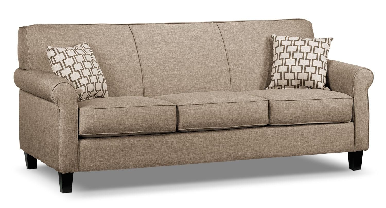 Living Room Furniture - Ariel Sofa - Beige