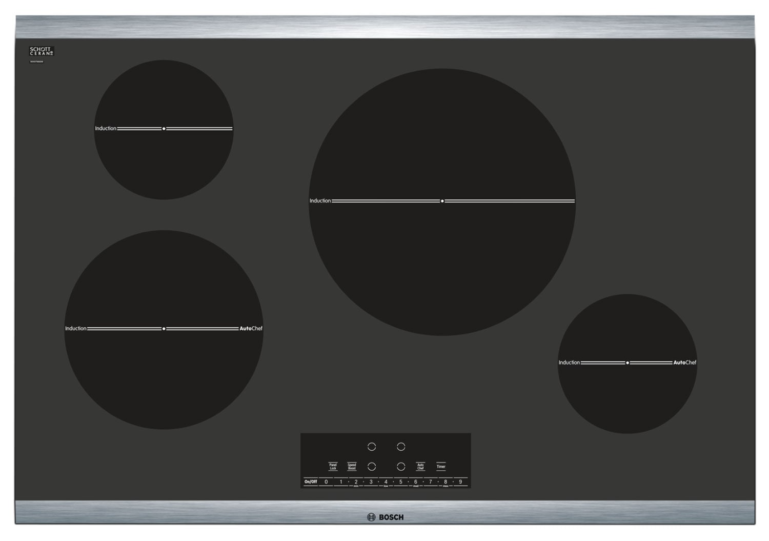 Cooking Products - Bosch Black Electric Induction Cooktop - NIT8066SUC