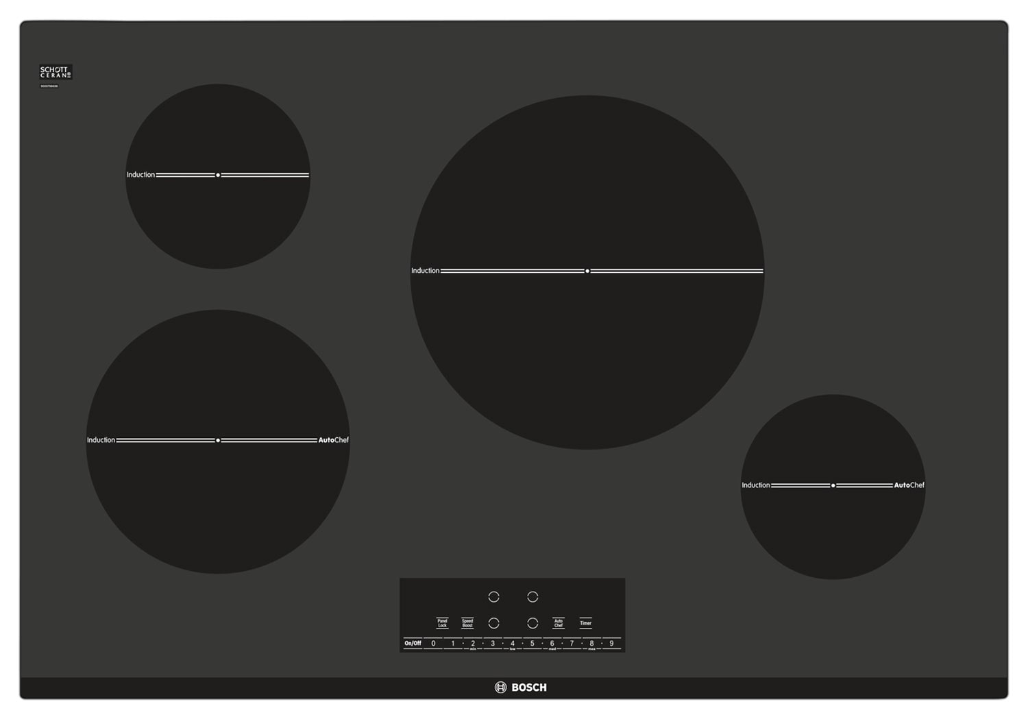 Cooking Products - Bosch Black Electric Cooktop - NIT8066UC