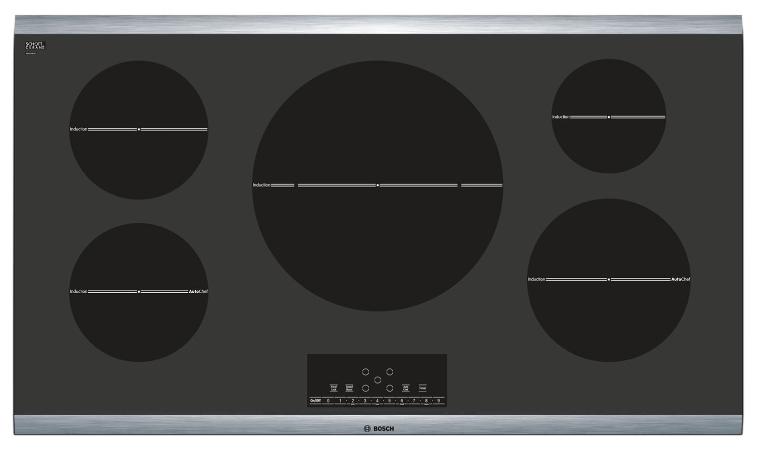 Cooking Products - Bosch Black Electric Induction Cooktop - NIT8666SUC