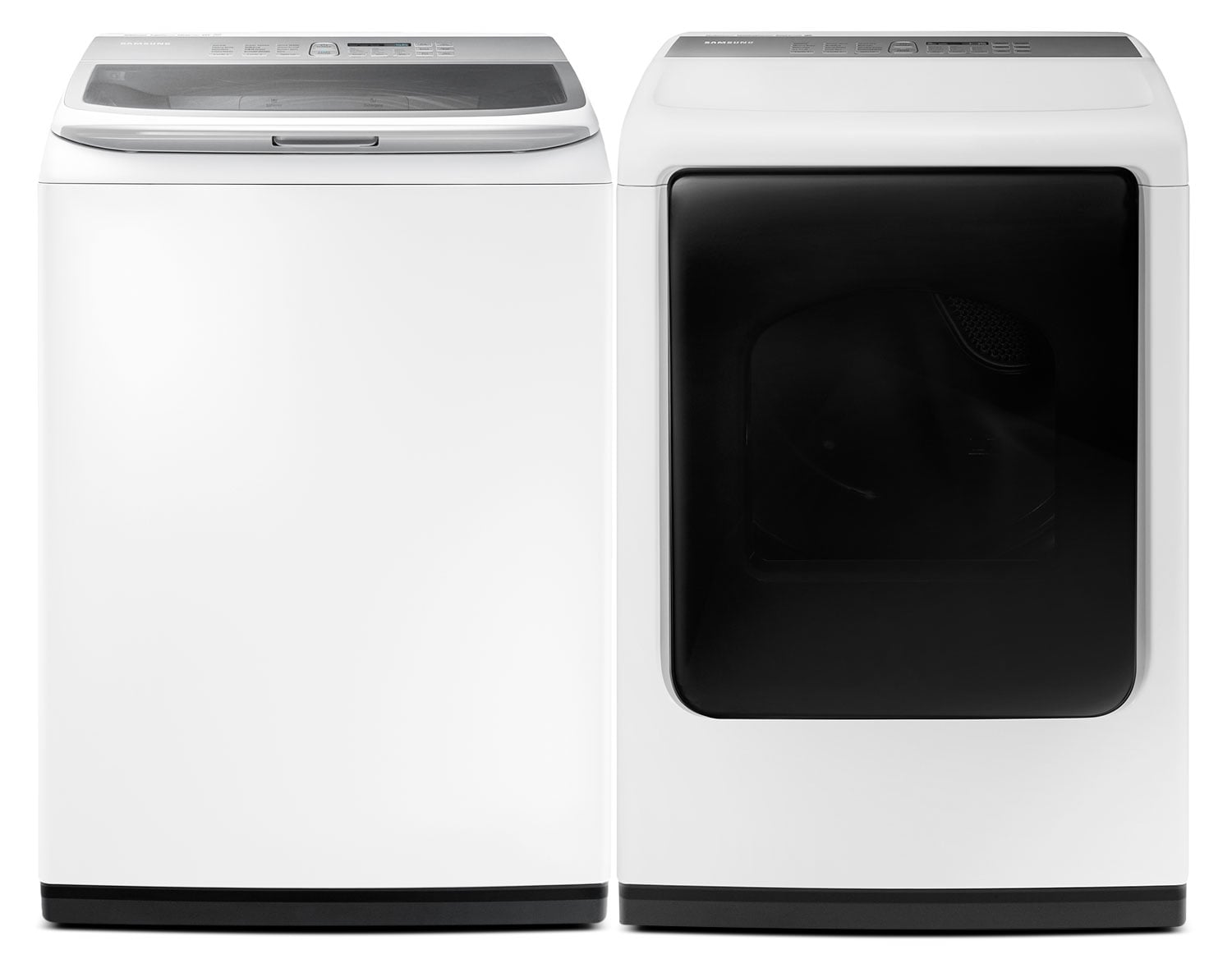 Washers and Dryers - Samsung 5.2 Cu. Ft. Top-Load Washer and 7.5 Cu. Ft. Electric Dryer – White