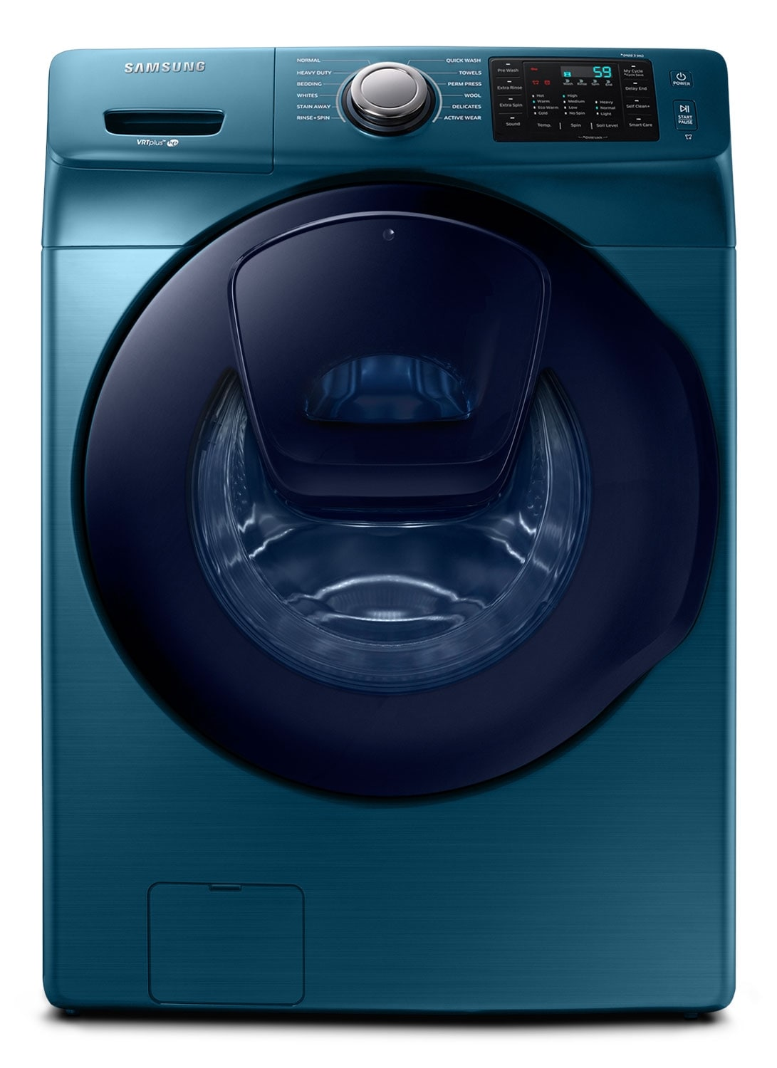 Washers and Dryers - Samsung Blue Sapphire Front-Load Washer (5.2 Cu. Ft. IEC) - WF45K6200AZ/A2