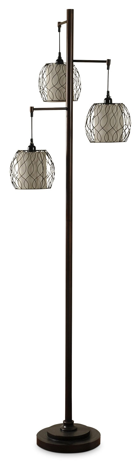 Home Accessories - Hanging Triple-Cage Floor Lamp
