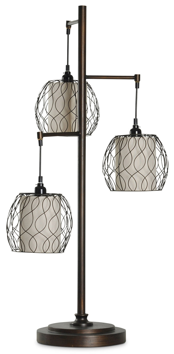 Home Accessories - Hanging Triple-Cage Table Lamp