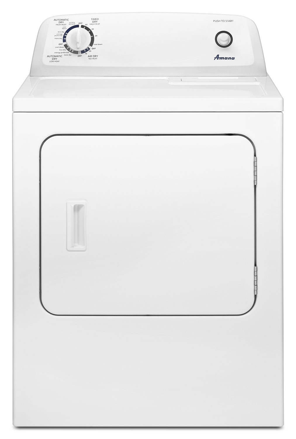Washers and Dryers - Amana White Gas Dryer (6.5 Cu. Ft.) - NGD4655EW