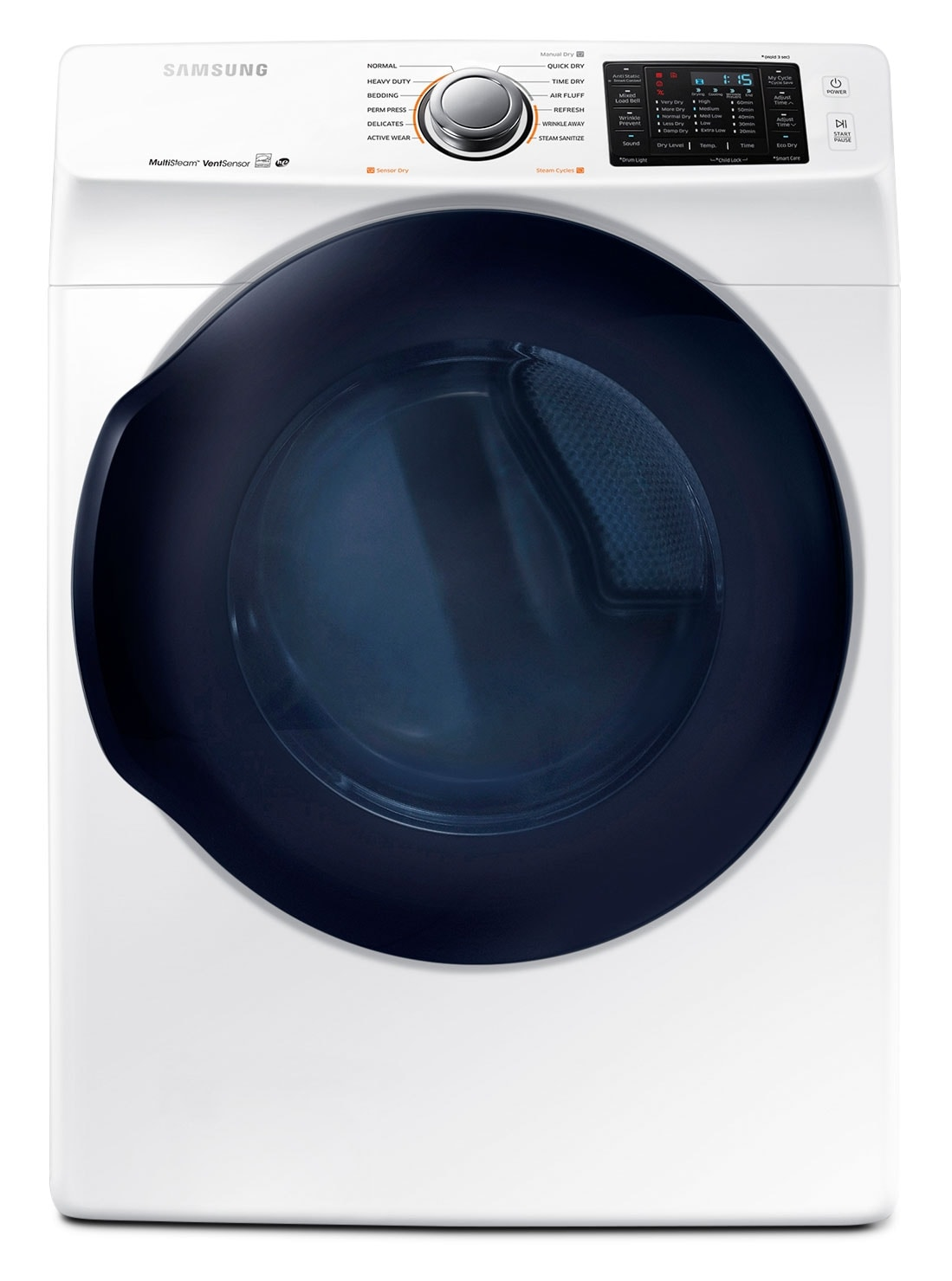 Washers and Dryers - Samsung 7.5 Cu. Ft. Electric Dryer – DV45K6200EW/AC