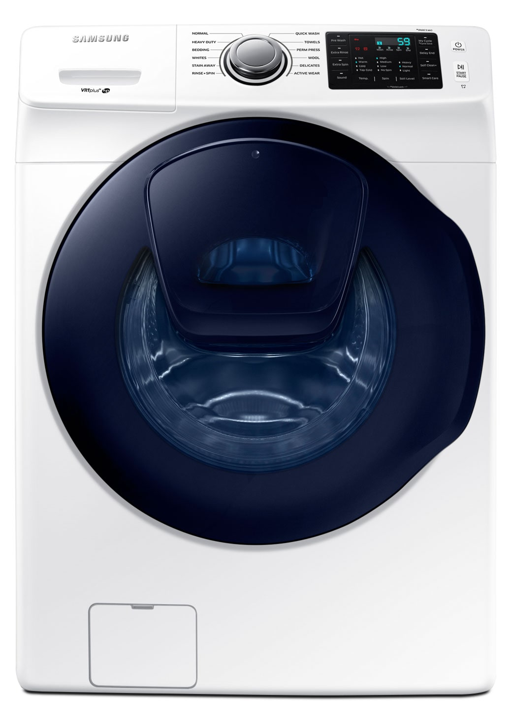 Washers and Dryers - Samsung White Front-Load Washer (5.2 Cu. Ft. IEC) - WF45K6200AW/A2