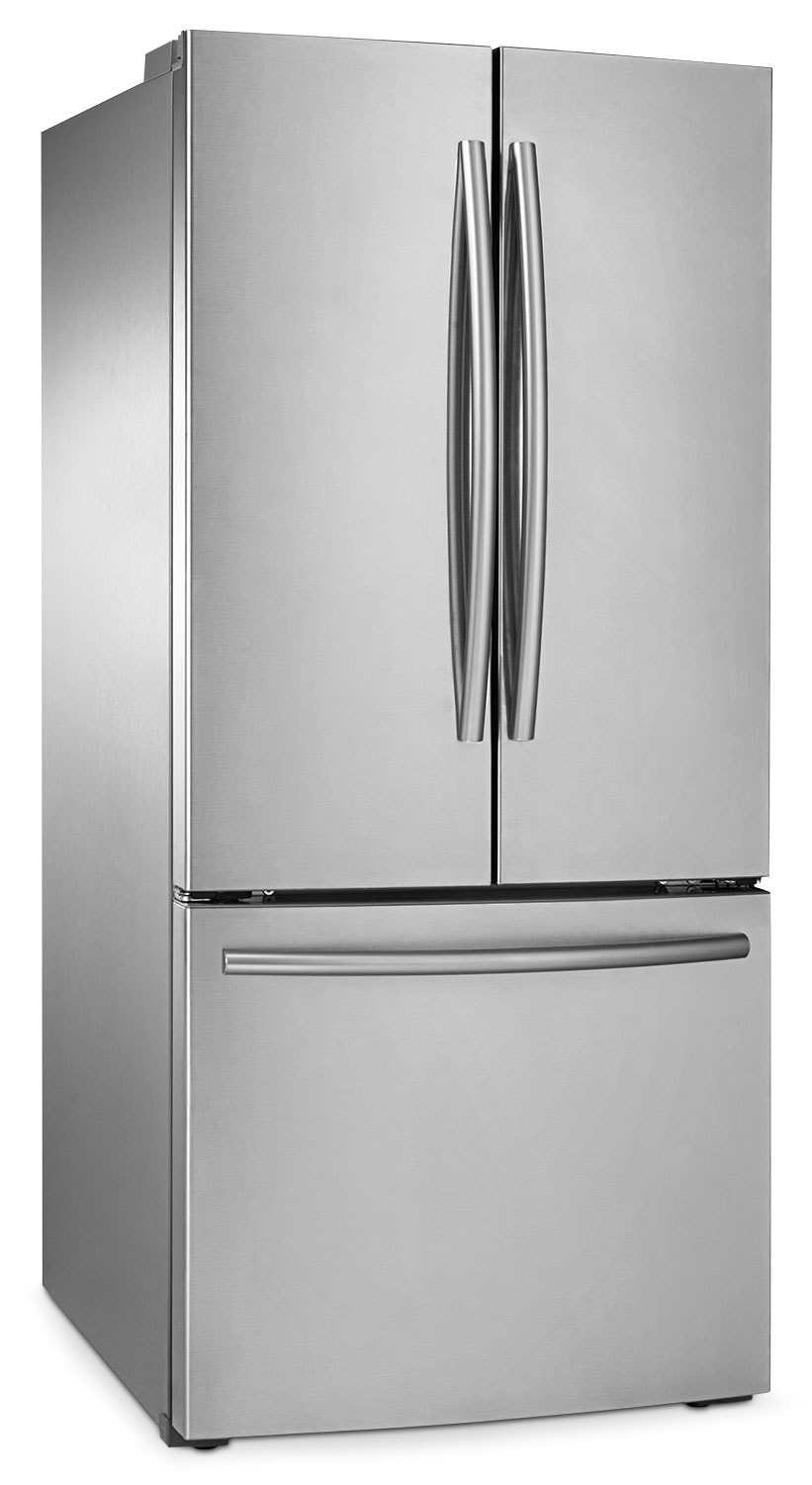 Refrigerators and Freezers - Samsung 22 Cu. Ft.  French-Door Refrigerator with Internal Water Dispenser - RF221NCTASR/AA