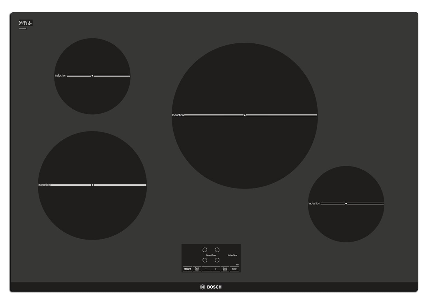 Cooking Products - Bosch Black Electric Induction Cooktop - NIT5066UC
