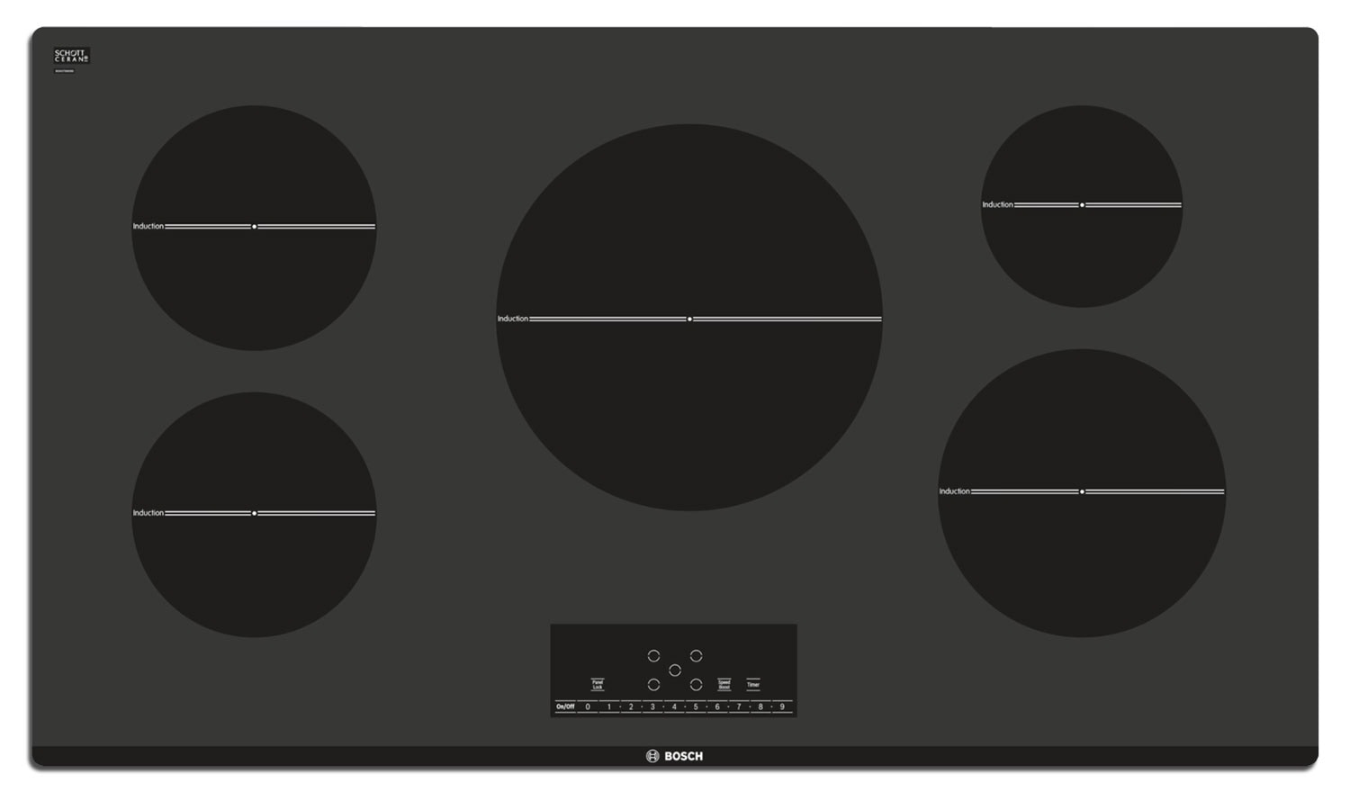 Bosch Black Electric Induction Cooktop - NIT5666UC