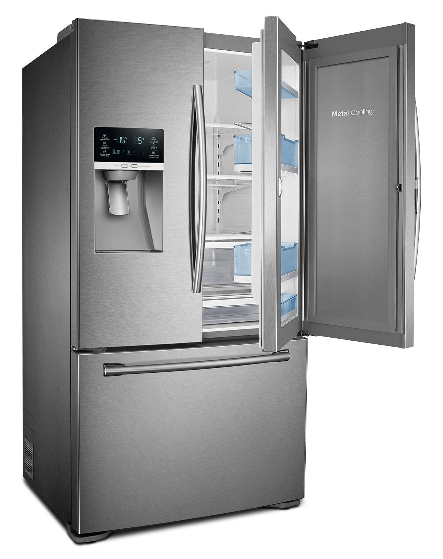 Samsung Stainless Steel Counter Depth French Door Refrigerator (22.5 Cu.  Ft.)   RF23HTEDBSR