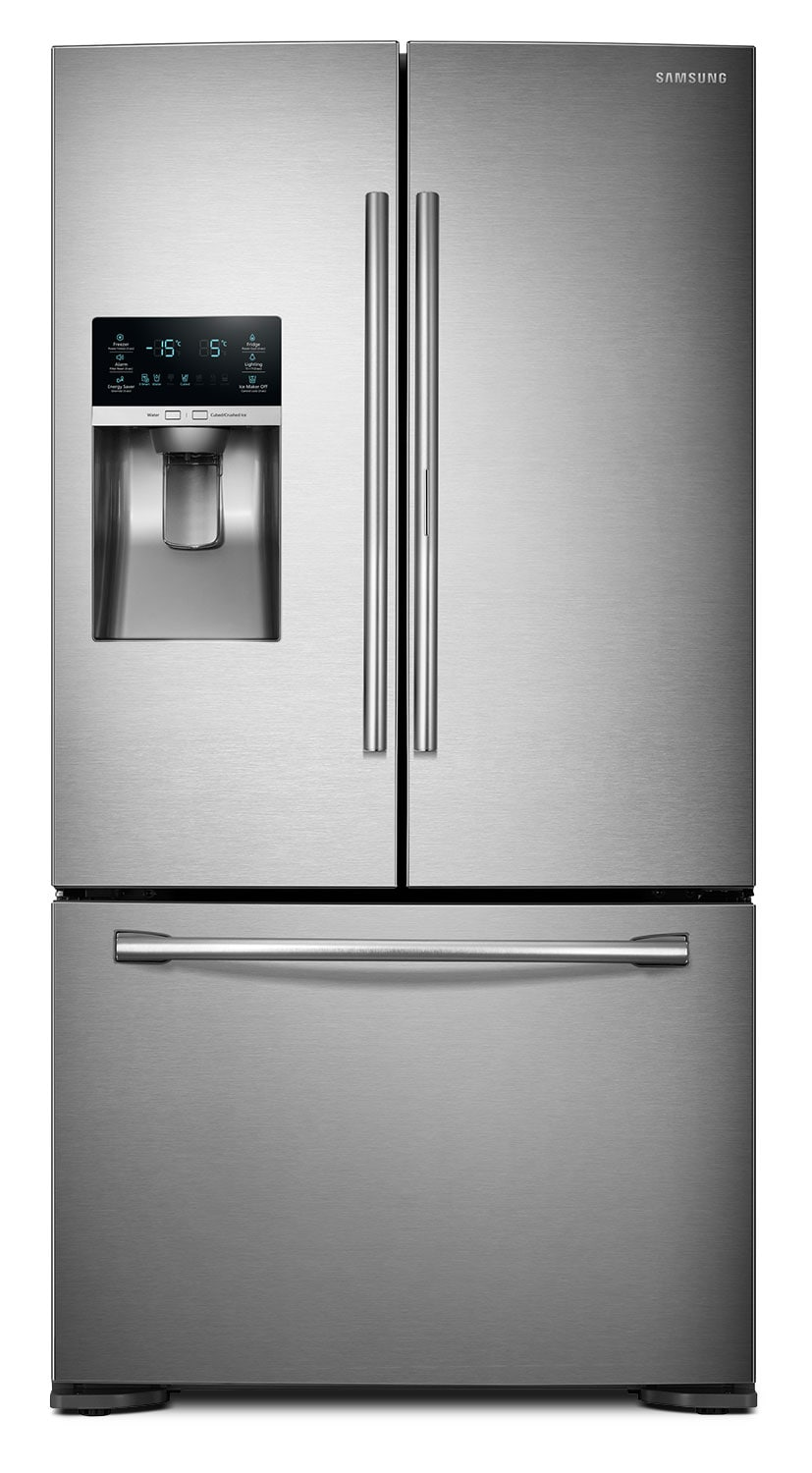 Refrigerators and Freezers - Samsung Stainless Steel Counter-Depth French Door Refrigerator (22.5 Cu. Ft.) - RF23HTEDBSR
