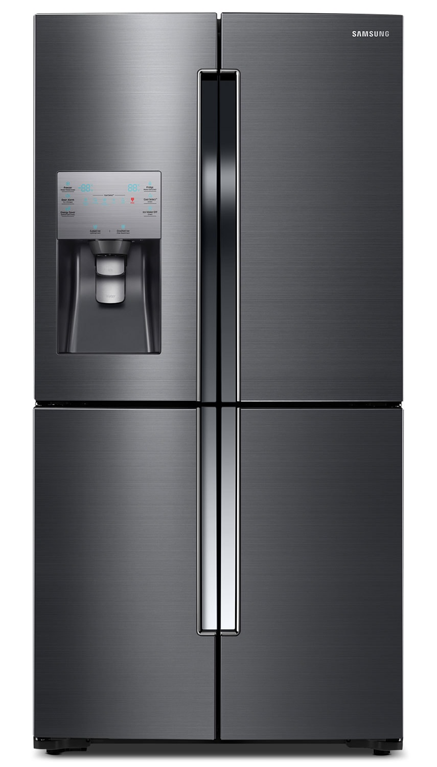 Refrigerators and Freezers - Samsung Black Stainless Steel French Door Refrigerator (22.5 Cu. Ft.) - RF23J9011SG/AA
