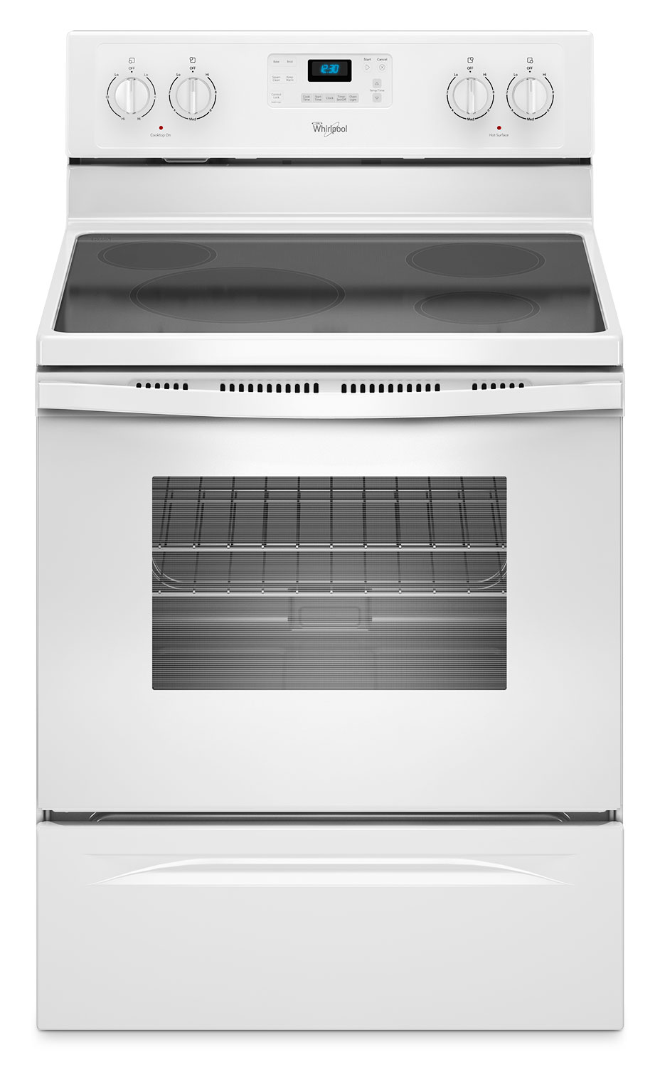Whirlpool White Freestanding Electric Range with FlexHeat™ Element (5.3 Cu. Ft.) - YWFE330W0EW