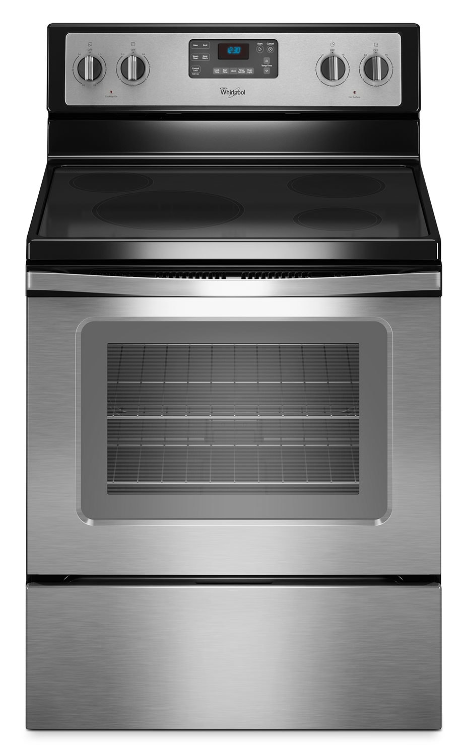 Whirlpool Stainless Steel Freestanding Electric Range w/ FlexHeat™ (4.8 Cu. Ft.) - YWFE330W0ES