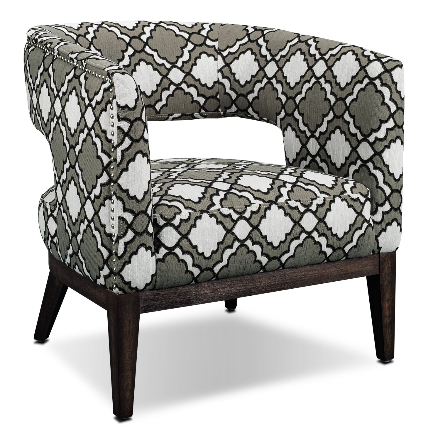 Lisa Fabric Accent Chair – Patterned
