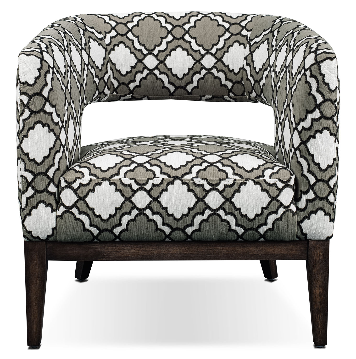 Living Room Furniture - Lisa Fabric Accent Chair – Patterned