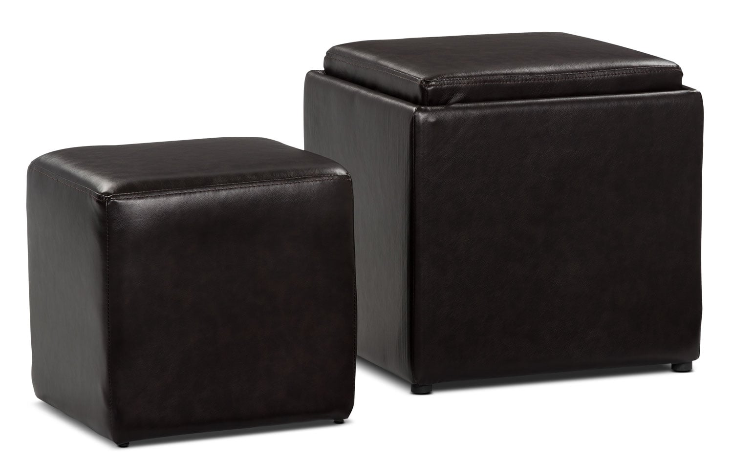 Accent and Occasional Furniture - Aden Storage Ottoman with Cube Ottoman