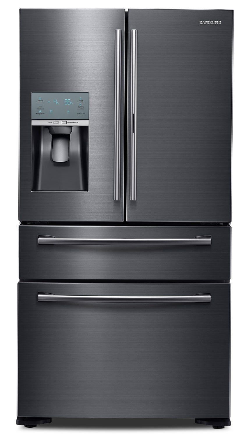 Refrigerators and Freezers - Samsung Black Stainless Steel Counter-Depth French Door Refrigerator (22 Cu. Ft.) - RF22KREDBSG/AA