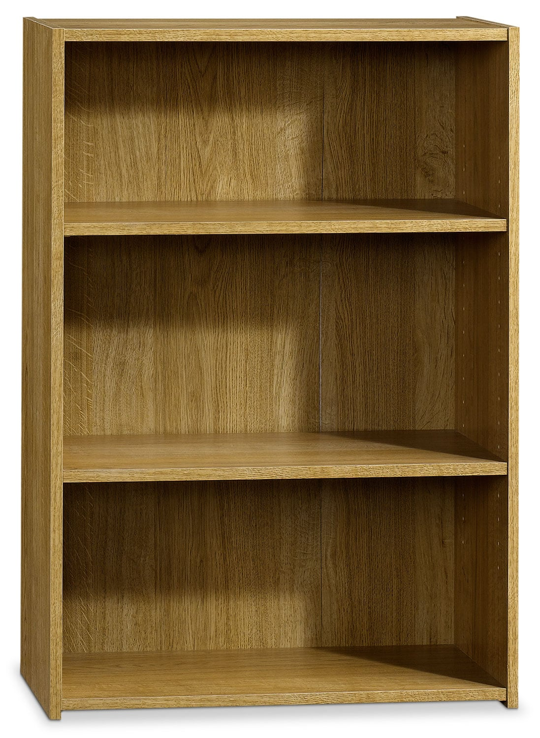 Boston 3-Shelf Bookcase – Highland Oak