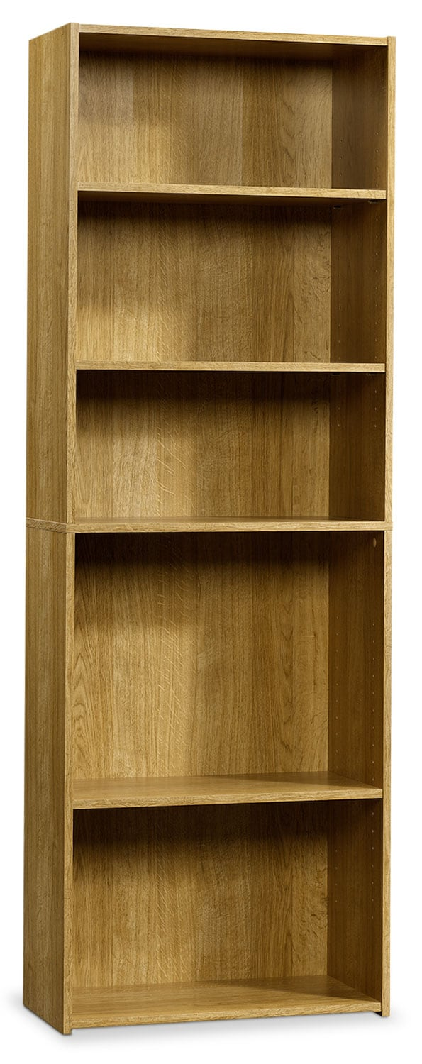 Boston 5-Shelf Bookcase – Highland Oak