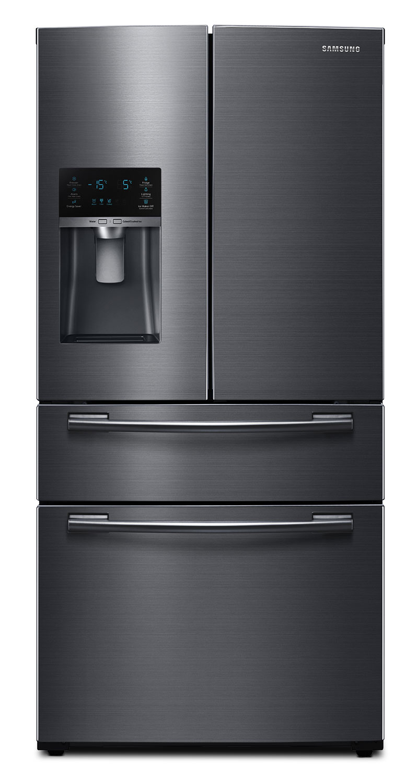Refrigerators and Freezers - Samsung 25 Cu. Ft. French-Door Refrigerator – RF25HMEDBSG/AA