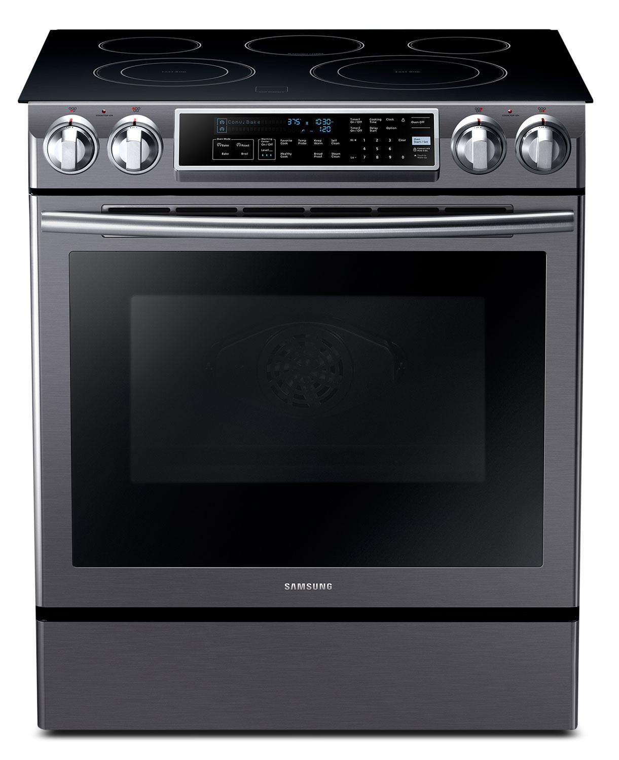 Samsung 5.8 Cu. Ft. Slide-In Electric Range – NE58K9500SG