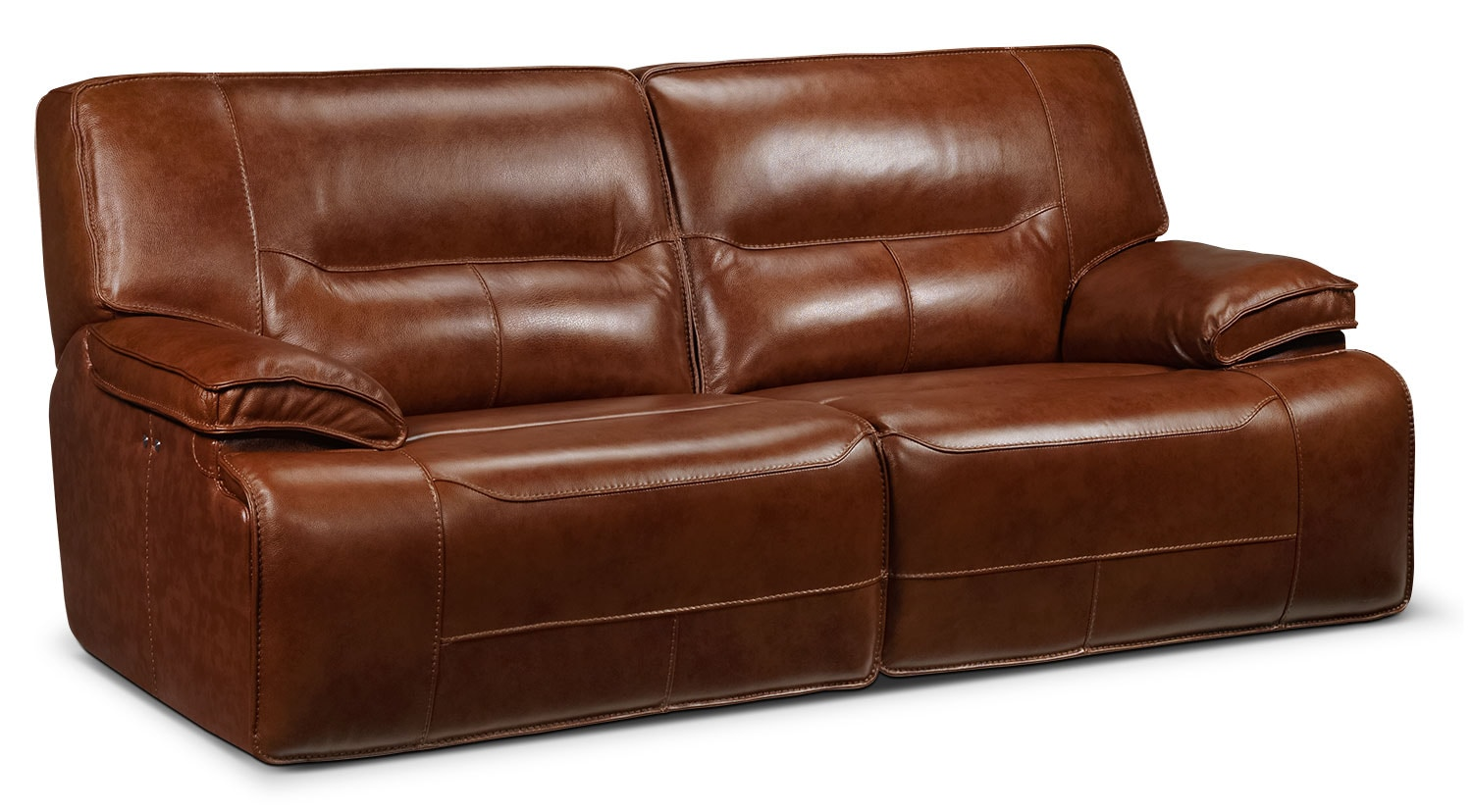 Living Room Furniture - Baxter Power Reclining Sofa - Chestnut