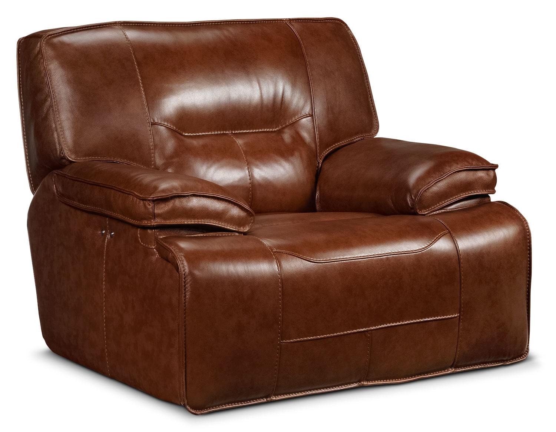 Living Room Furniture - Baxter Power Glider Recliner - Chestnut