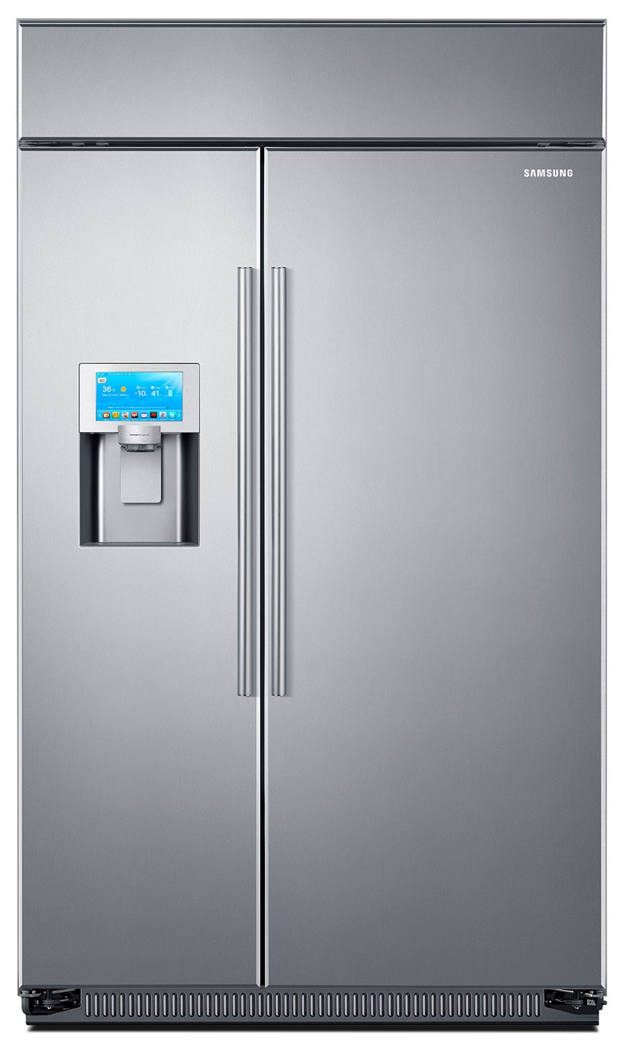Refrigerators and Freezers - Samsung Stainless Steel Built-In Side-by-Side Refrigerator (26.5 Cu. Ft.) - RS27FDBTNSR