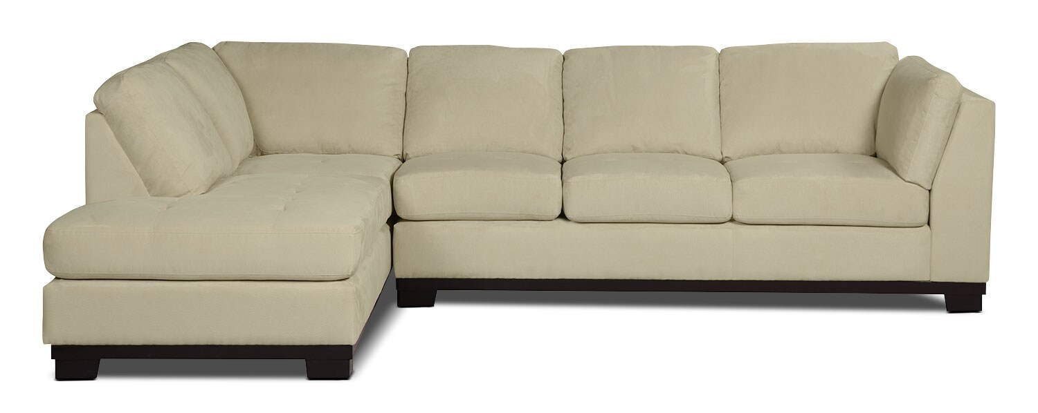 Oakdale 2 Piece Microsuede Left Facing Sectional With Sofa