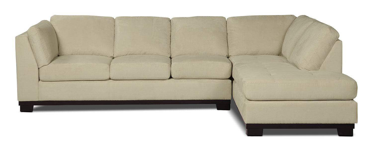 oakdale 2 piece microsuede right facing sectional with With sectional sofa bed the brick