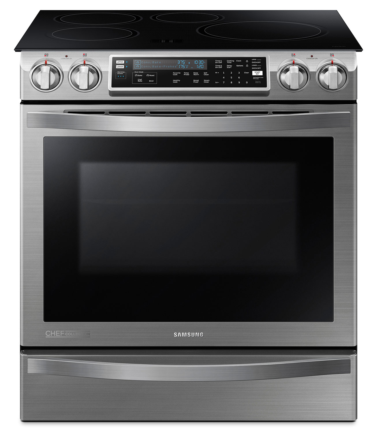Samsung Stainless Steel Slide-In Induction Convection Range - NE58H9970WS