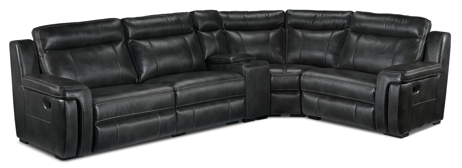 Bolero 5-Piece Reclining Sectional - Grey