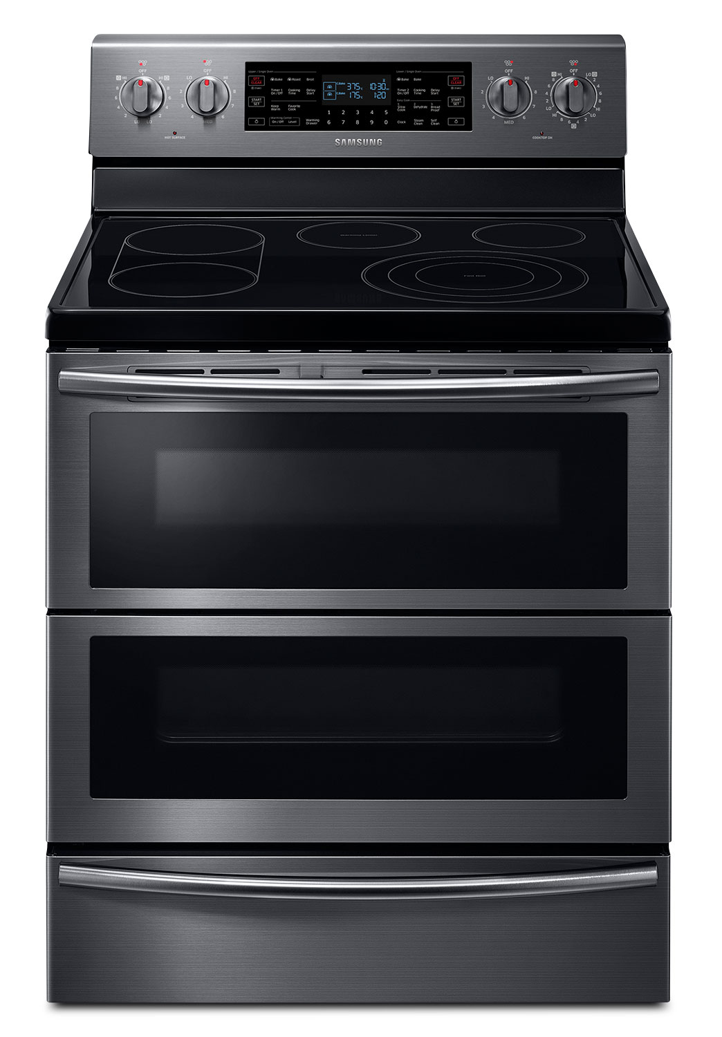 Cooking Products - Samsung Black Stainless Steel Freestanding Electric Convection Range (5.9 Cu. Ft.) - NE59J7850WG/AC