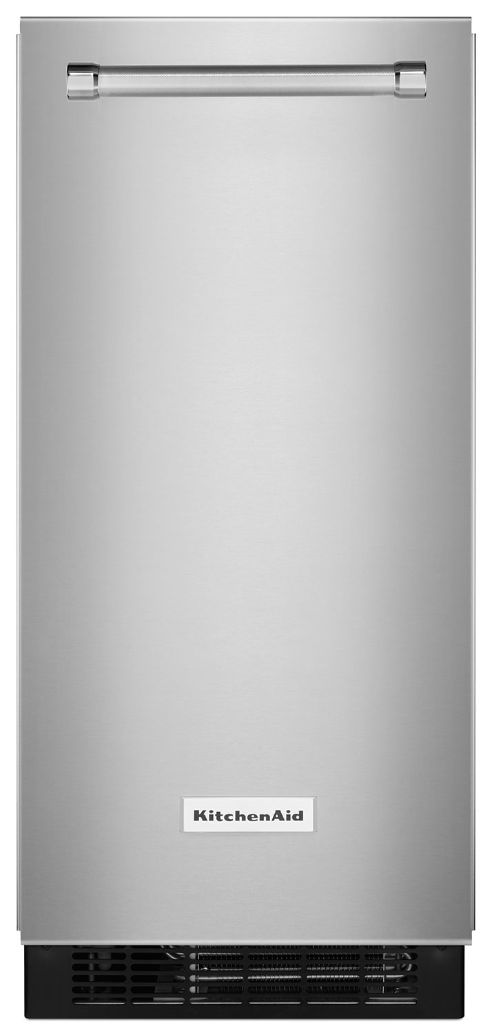"Refrigerators and Freezers - KitchenAid Stainless Steel 15"" Ice Maker - KUIX505ESS"