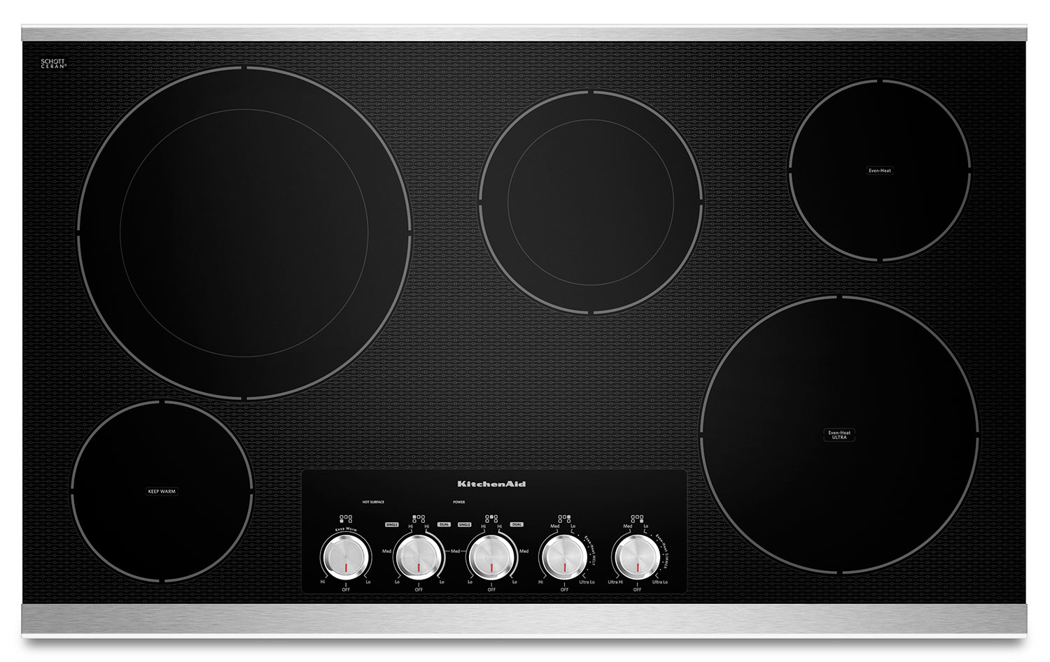 Cooking Products - KitchenAid 36'' Electric Cooktop – KECC664BSS