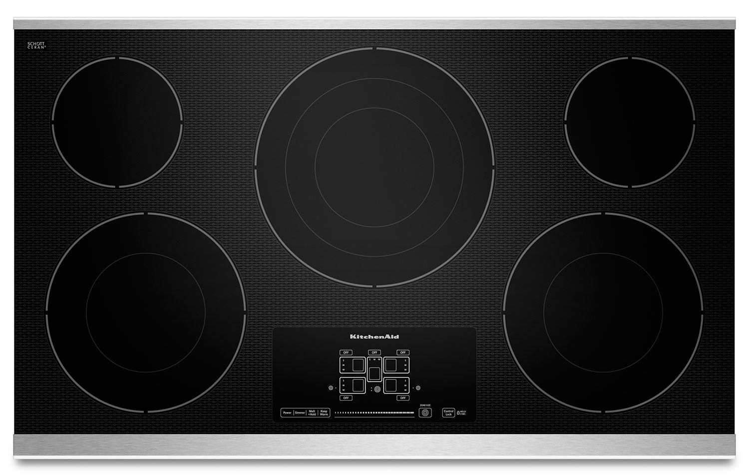 Cooking Products - KitchenAid 36'' Electric Cooktop – KECC667BSS