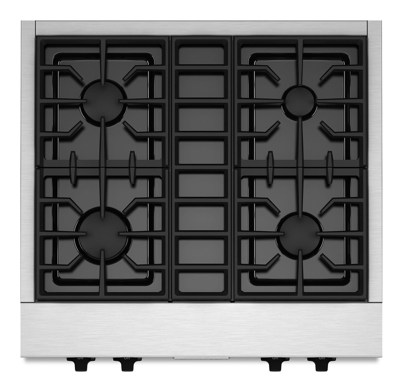"""KitchenAid 30"""" Commercial-Style Gas Cooktop – KGCU407VSS"""
