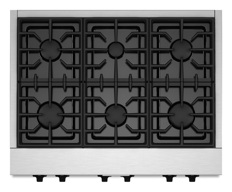 """KitchenAid 36"""" Commercial-Style Gas Cooktop – KGCU467VSS"""
