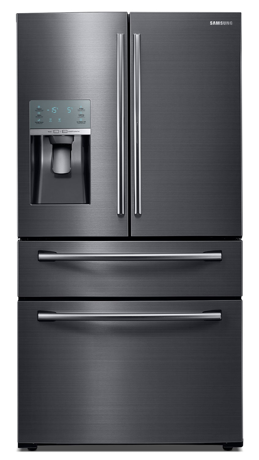 Refrigerators and Freezers - Samsung Black Stainless Steel French-Door Refrigerator (28 Cu. Ft.) - RF28JBEDBSG/AA