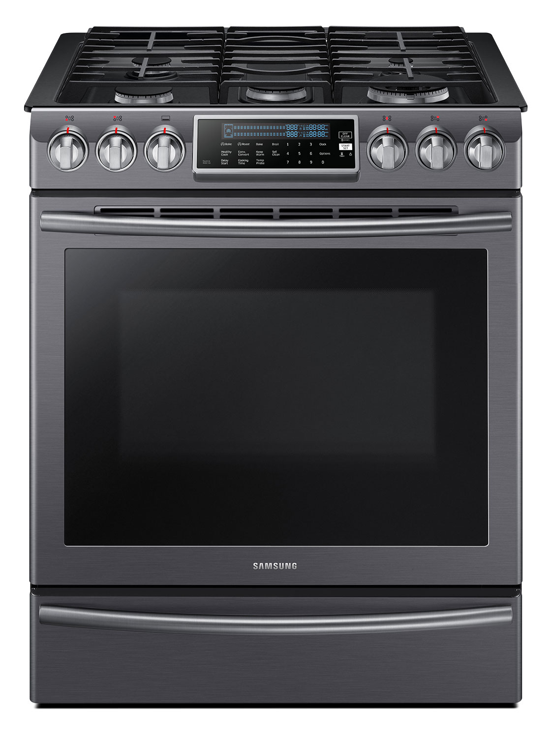 Samsung 5.8 Cu. Ft. Slide-In Gas Range – NX58K9500WG