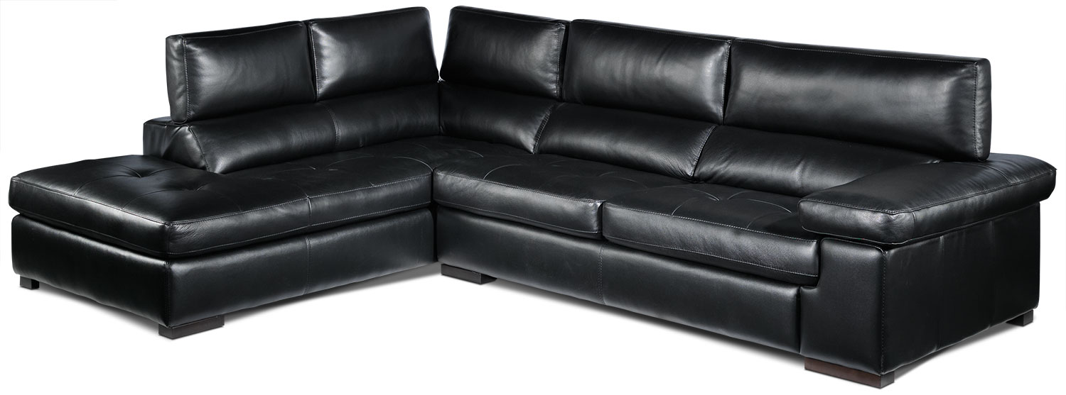 Underwood 2-Piece Left-Facing Sectional - Black