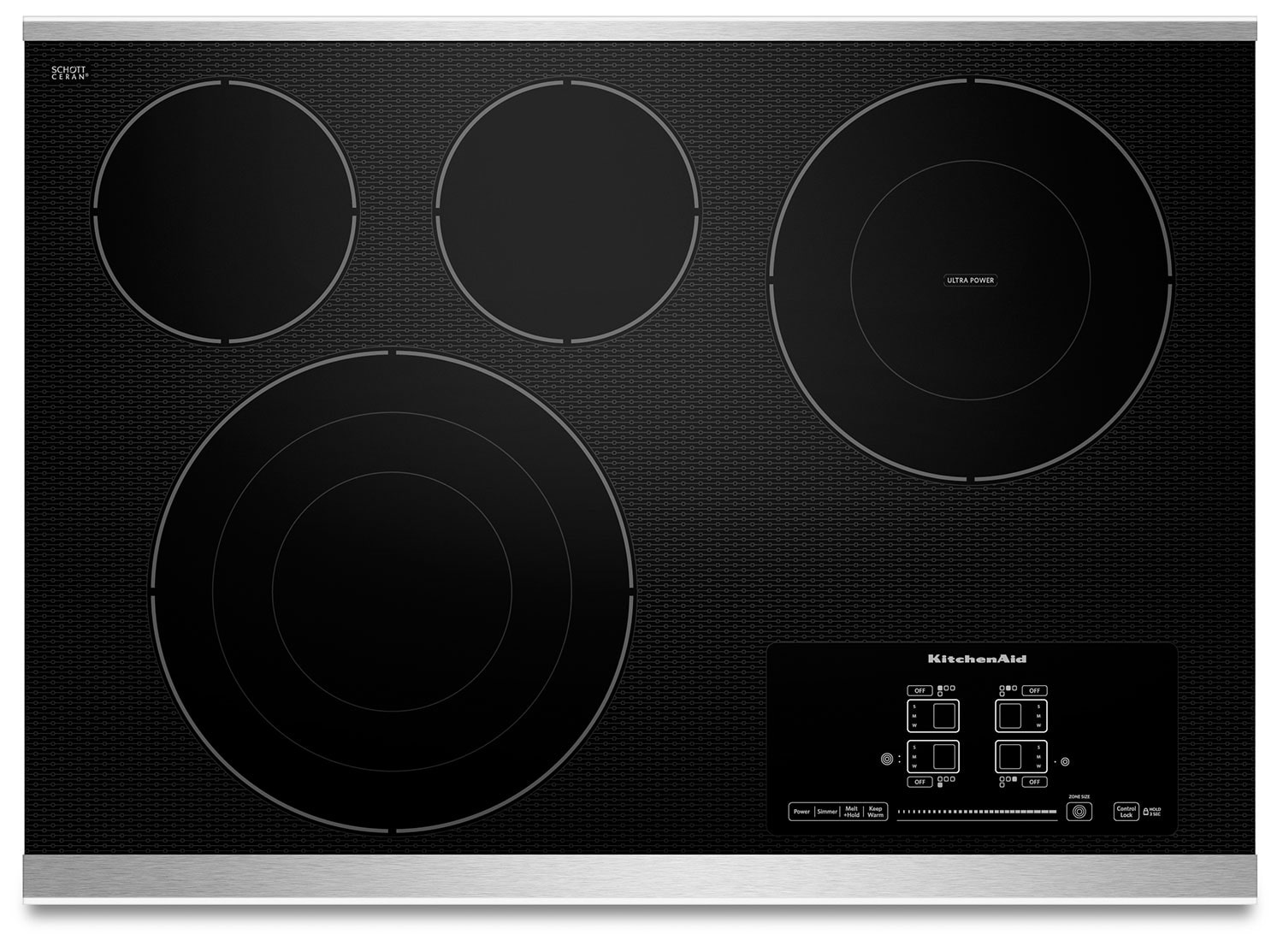 "KitchenAid Architect® Series II 30"" 4-Element Electric Cooktop – Stainless Steel"