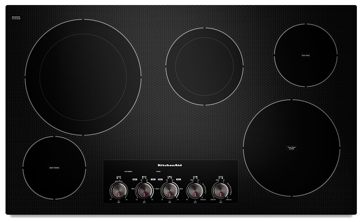 Cooking Products - KitchenAid 36'' Electric Cooktop – KECC664BBL