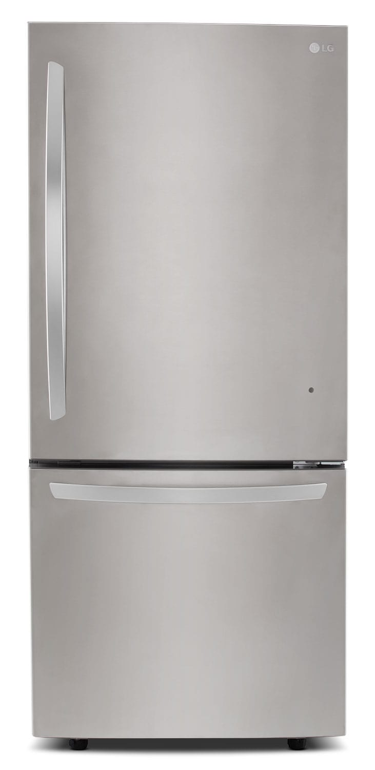 Refrigerators and Freezers - LG Appliances Stainless Steel Bottom-Freezer Refrigerator (22.1 Cu. Ft.) - LDNS22220S